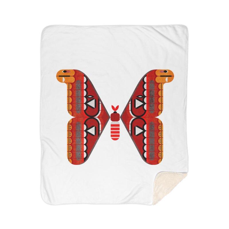 Atlas Moth Home Sherpa Blanket Blanket by scottpartridge's Artist Shop