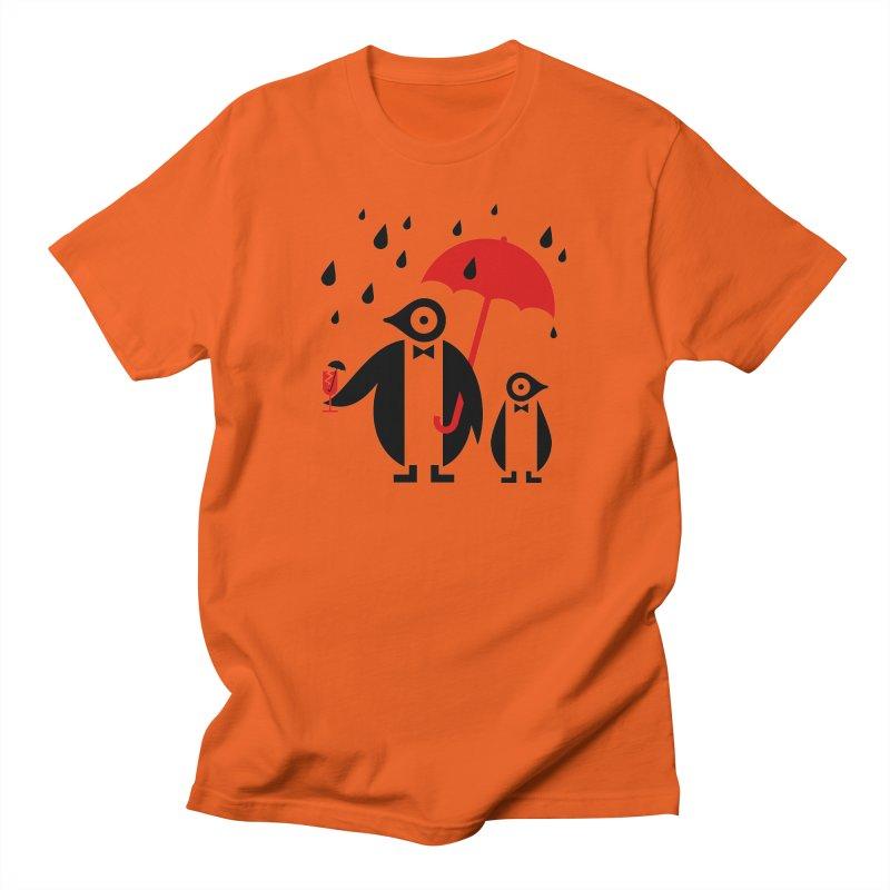 Penguins in Rain Men's T-Shirt by scottpartridge's Artist Shop