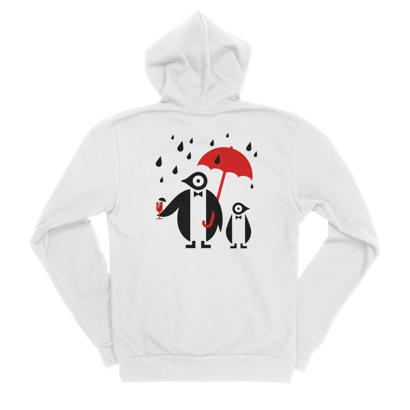 Penguins in Rain Women's Zip-Up Hoody by scottpartridge's Artist Shop