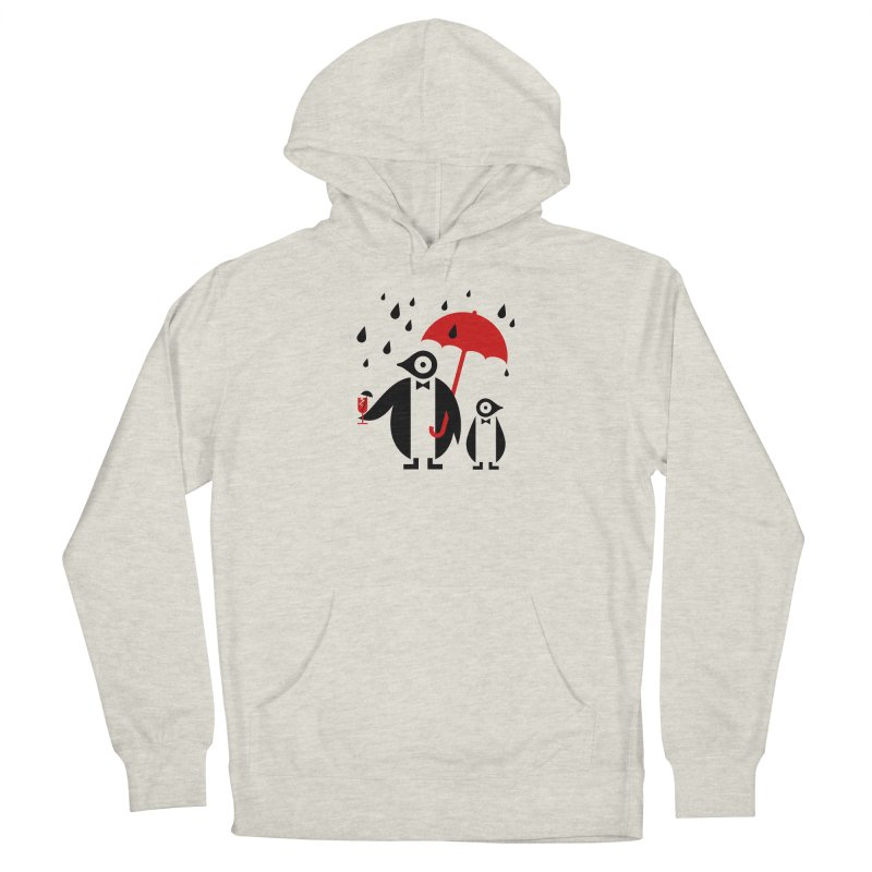 Penguins in Rain Men's French Terry Pullover Hoody by scottpartridge's Artist Shop