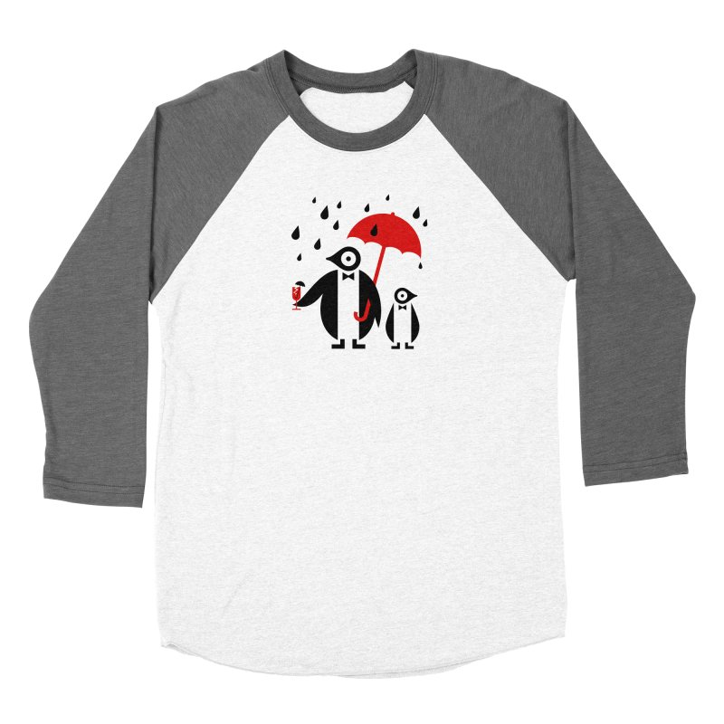 Penguins in Rain Women's Longsleeve T-Shirt by scottpartridge's Artist Shop