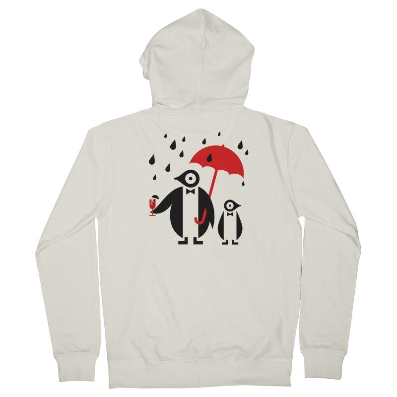 Penguins in Rain Women's French Terry Zip-Up Hoody by scottpartridge's Artist Shop