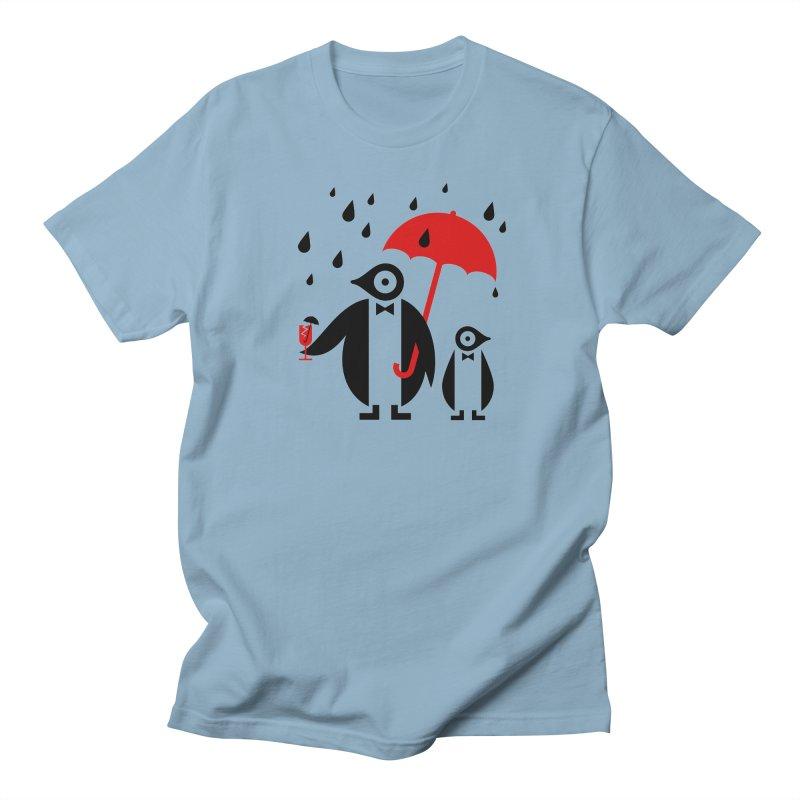 Penguins in Rain Men's Regular T-Shirt by scottpartridge's Artist Shop