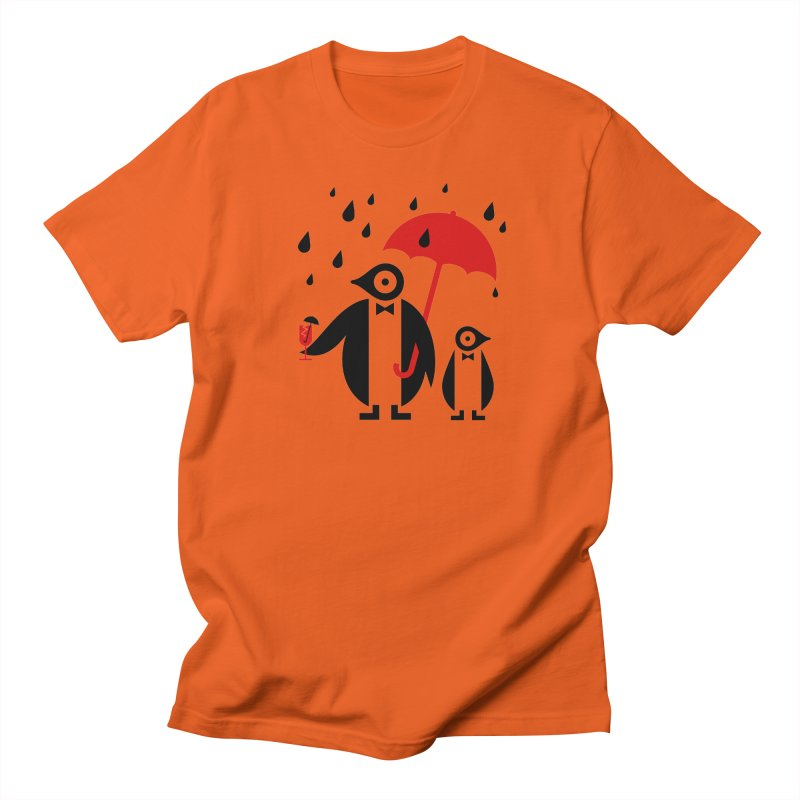 Penguins in Rain Men's T-Shirt by scottpartridge's Artist Shop