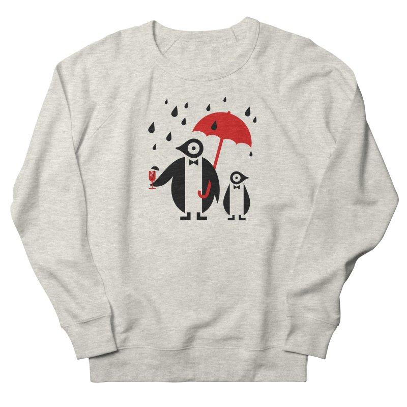 Penguins in Rain Women's Sweatshirt by scottpartridge's Artist Shop