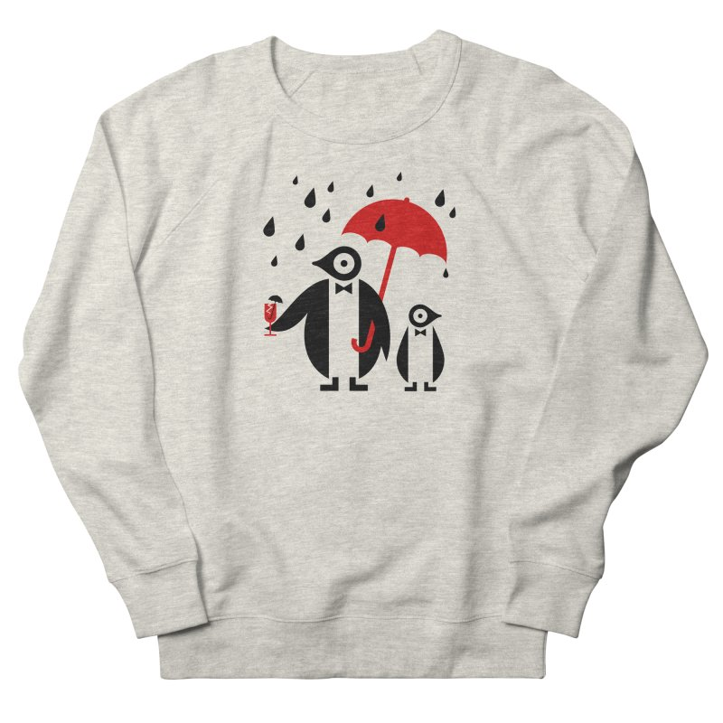 Penguins in Rain Men's French Terry Sweatshirt by scottpartridge's Artist Shop