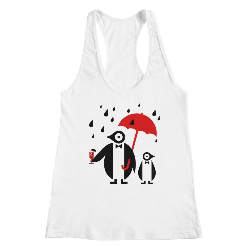 Penguins in Rain Women's Tank by scottpartridge's Artist Shop