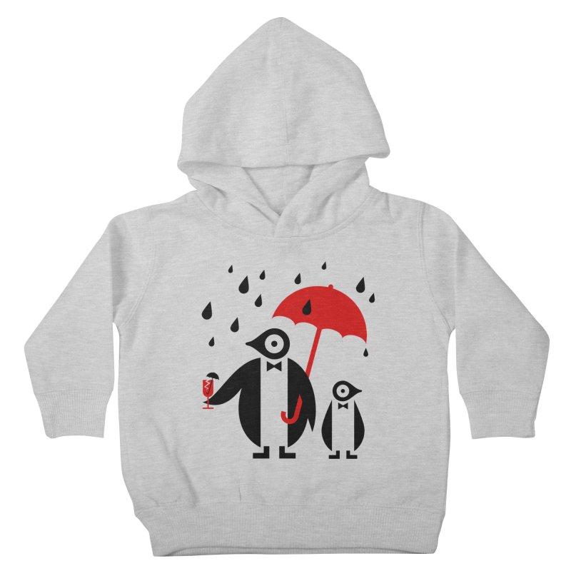 Penguins in Rain Kids Toddler Pullover Hoody by scottpartridge's Artist Shop