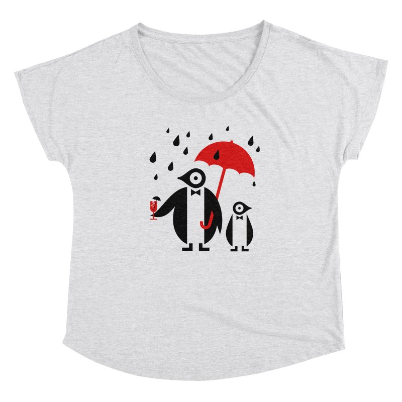 Penguins in Rain Women's Scoop Neck by scottpartridge's Artist Shop