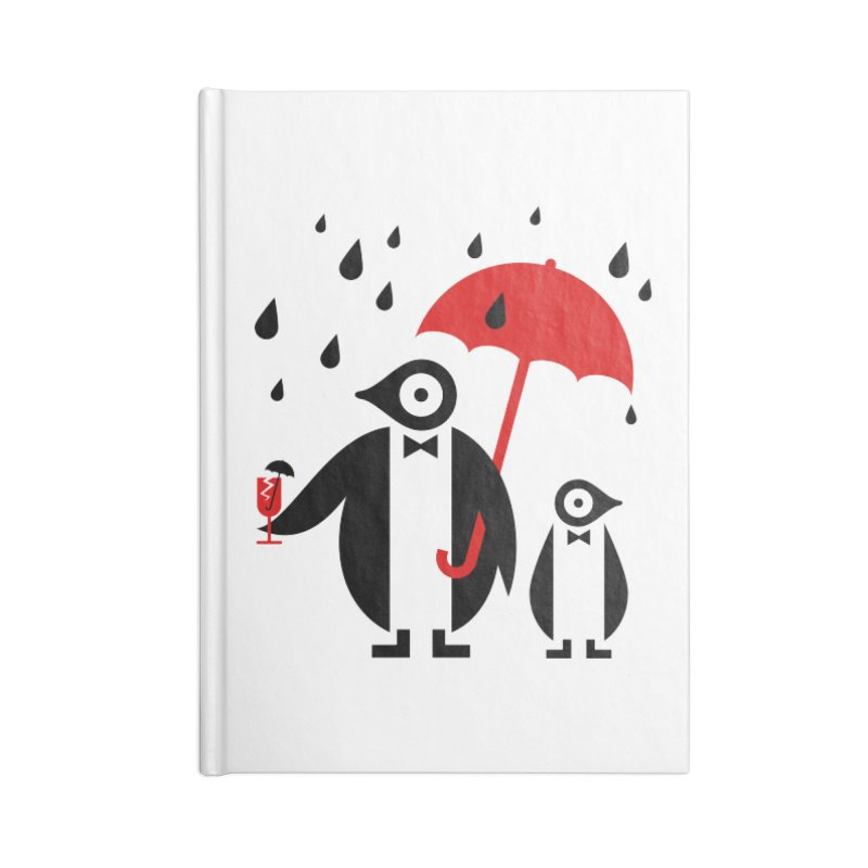 Penguins in Rain Accessories Notebook by scottpartridge's Artist Shop