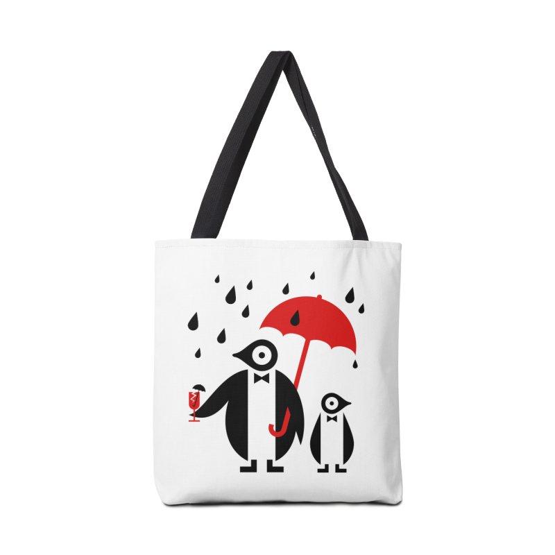 Penguins in Rain Accessories Bag by scottpartridge's Artist Shop