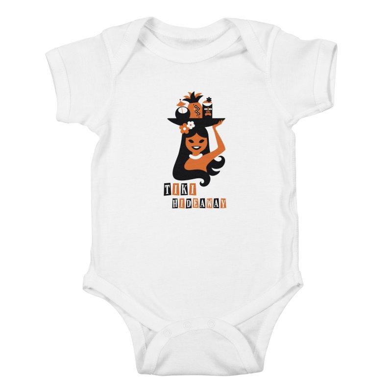 Tiki Hideaway Kids Baby Bodysuit by scottpartridge's Artist Shop