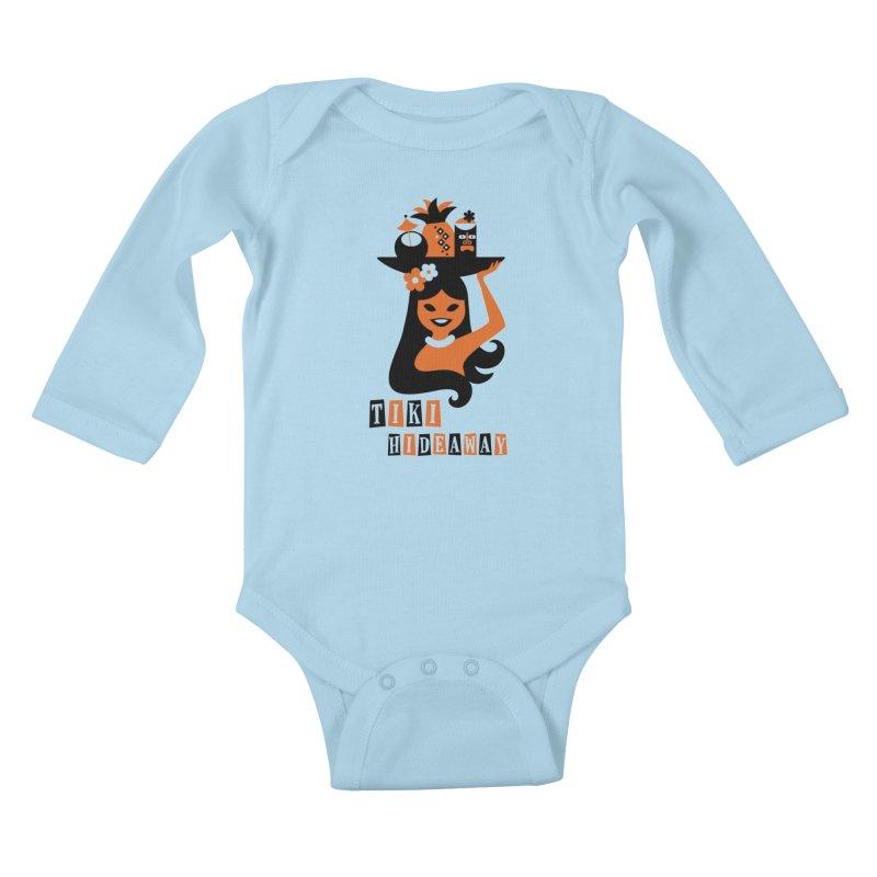Tiki Hideaway Kids Baby Longsleeve Bodysuit by scottpartridge's Artist Shop