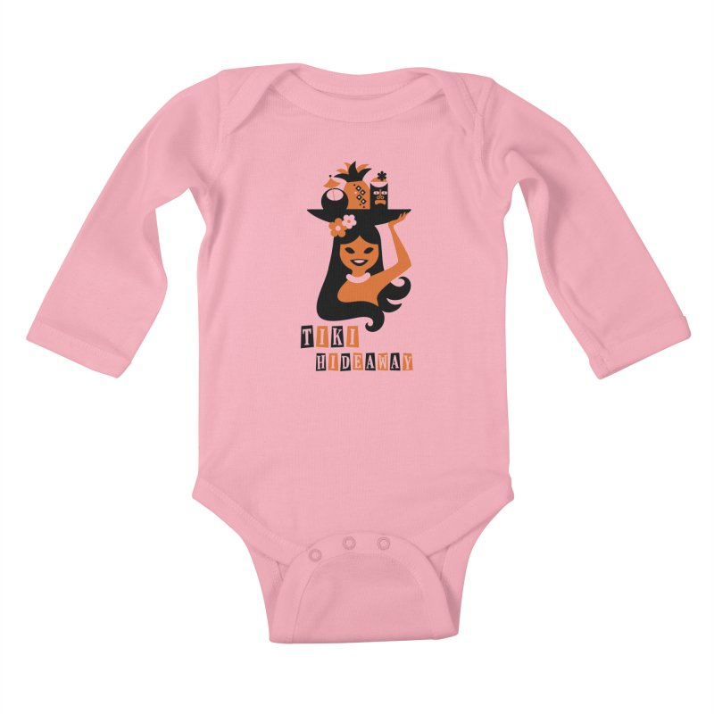 Tiki Hideaway Kids Baby Longsleeve Bodysuit by scottpartridge's Artist Shop