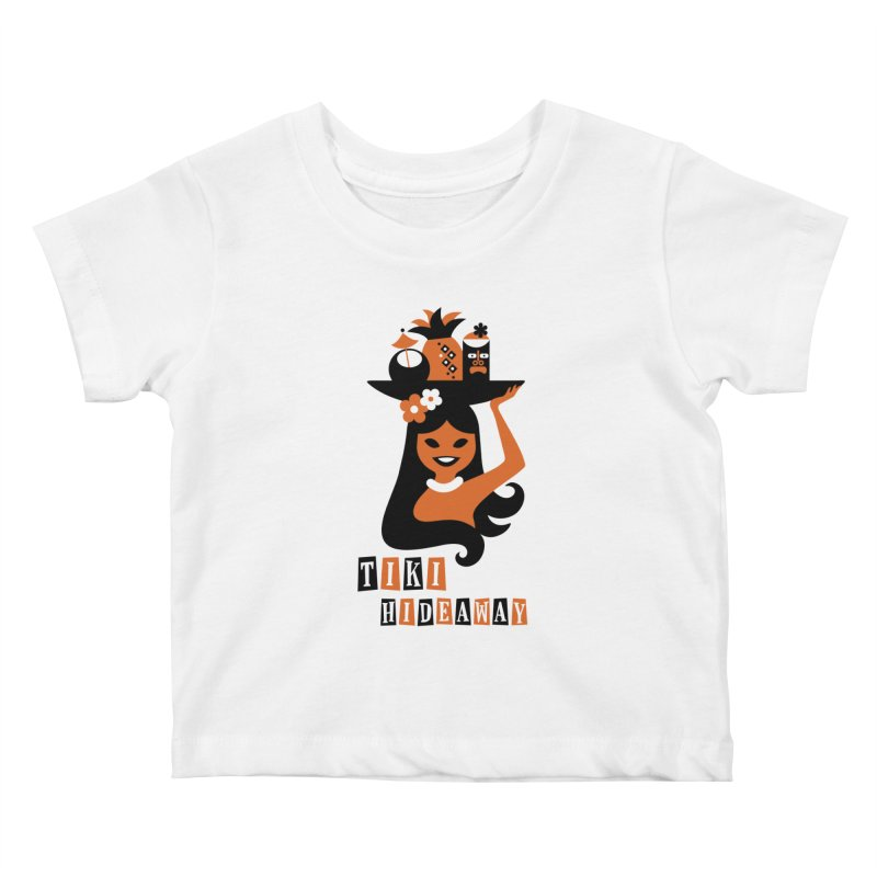 Tiki Hideaway Kids Baby T-Shirt by scottpartridge's Artist Shop