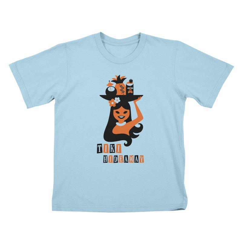 Tiki Hideaway Kids T-Shirt by scottpartridge's Artist Shop