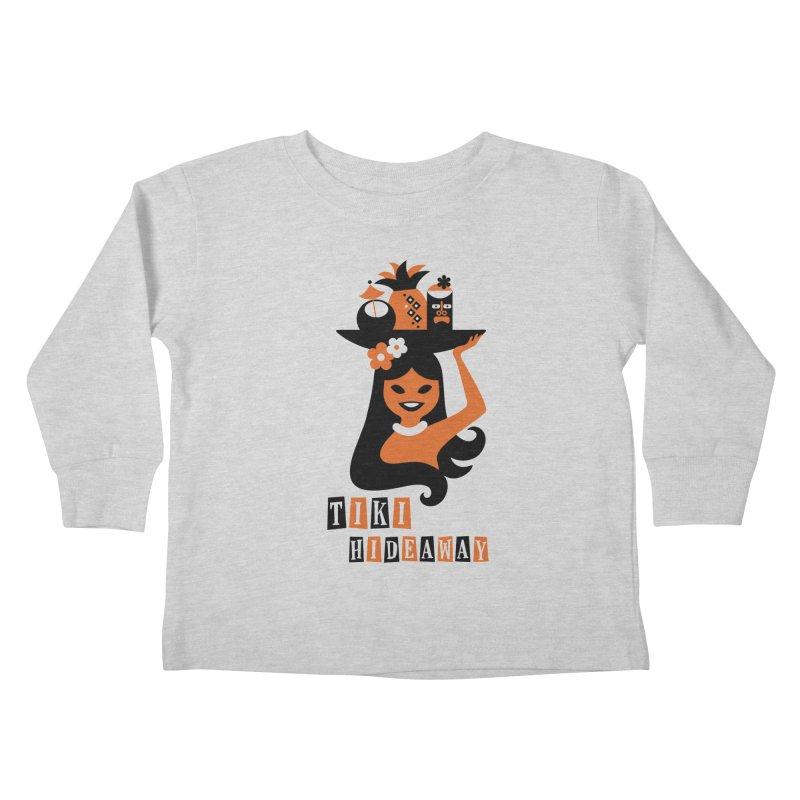 Tiki Hideaway Kids Toddler Longsleeve T-Shirt by scottpartridge's Artist Shop