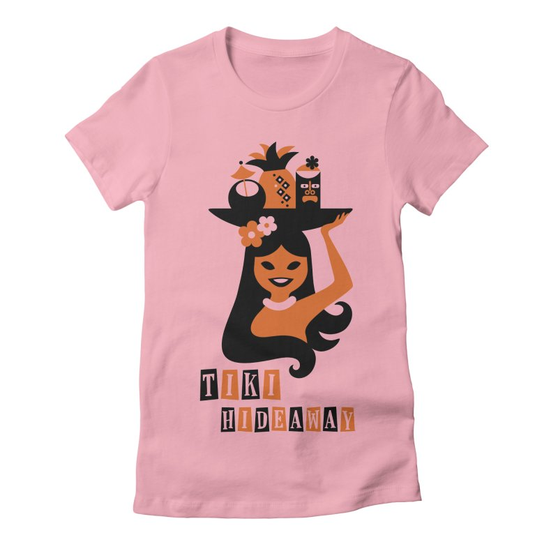 Tiki Hideaway Women's Fitted T-Shirt by scottpartridge's Artist Shop