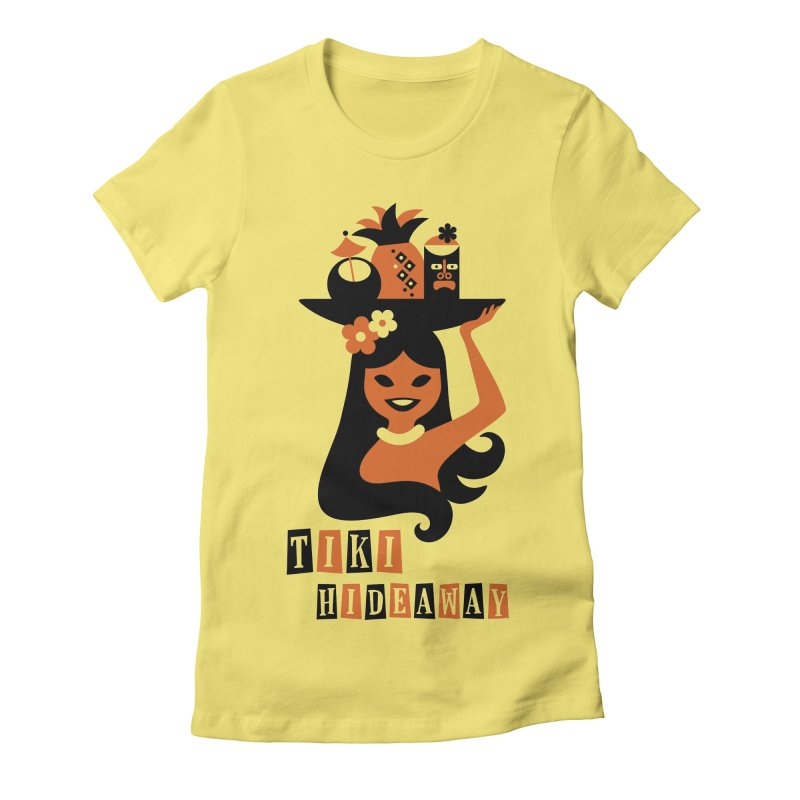 Tiki Hideaway Women's Fitted T-Shirt by scottpartridge's Artist Shop