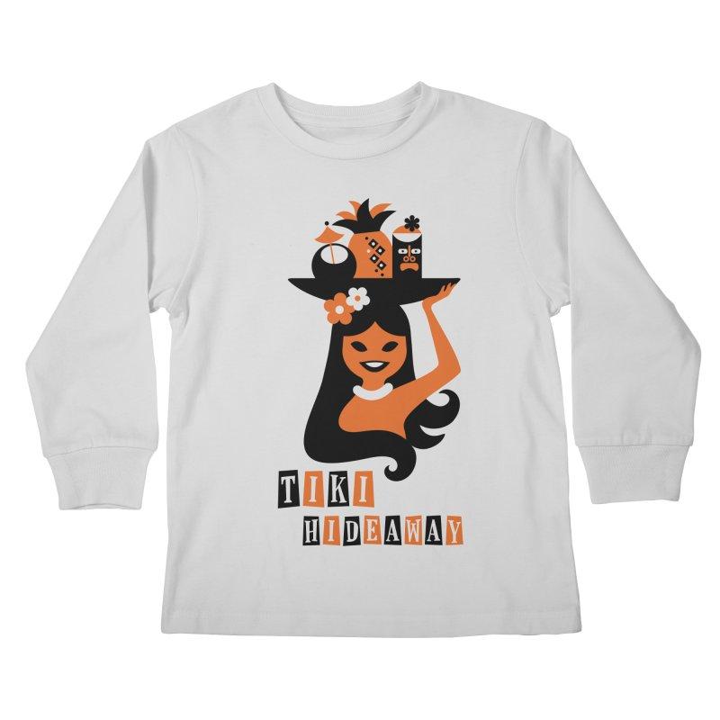 Tiki Hideaway Kids Longsleeve T-Shirt by scottpartridge's Artist Shop