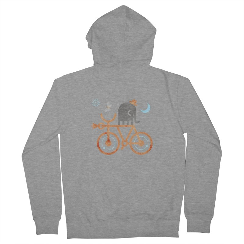 Elephant and Moth Women's Zip-Up Hoody by scottpartridge's Artist Shop