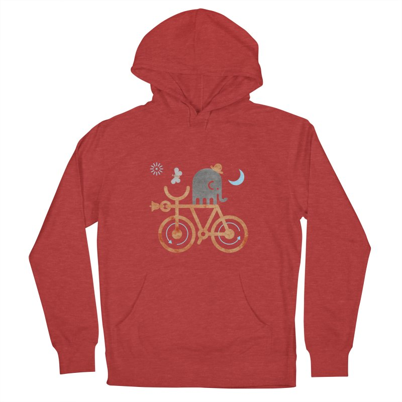 Elephant and Moth Women's French Terry Pullover Hoody by scottpartridge's Artist Shop