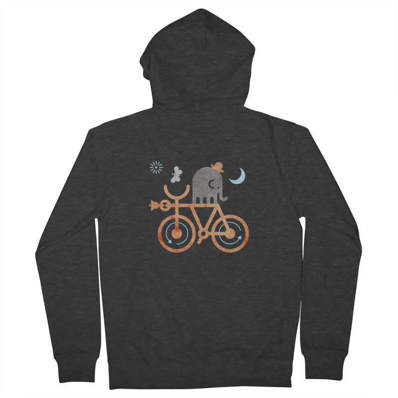 Elephant and Moth Women's French Terry Zip-Up Hoody by scottpartridge's Artist Shop
