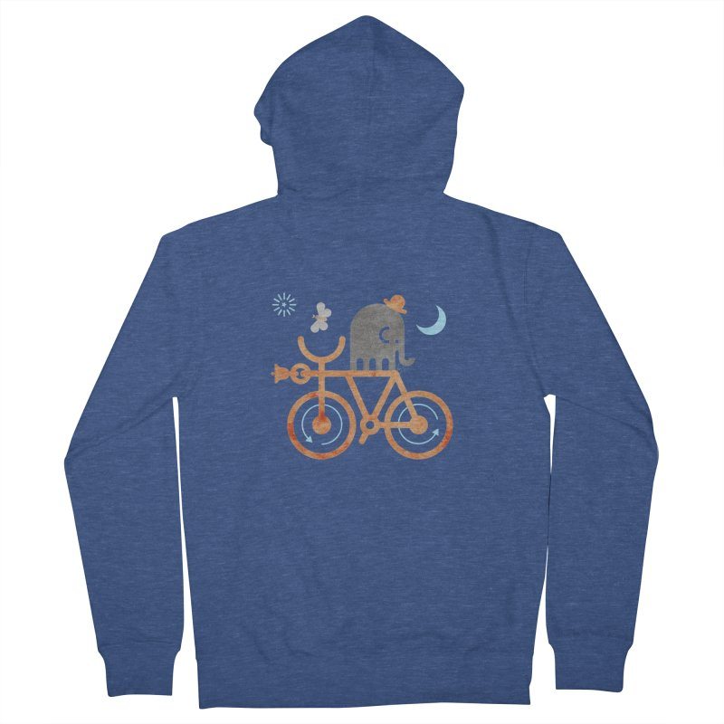 Elephant and Moth Men's French Terry Zip-Up Hoody by scottpartridge's Artist Shop