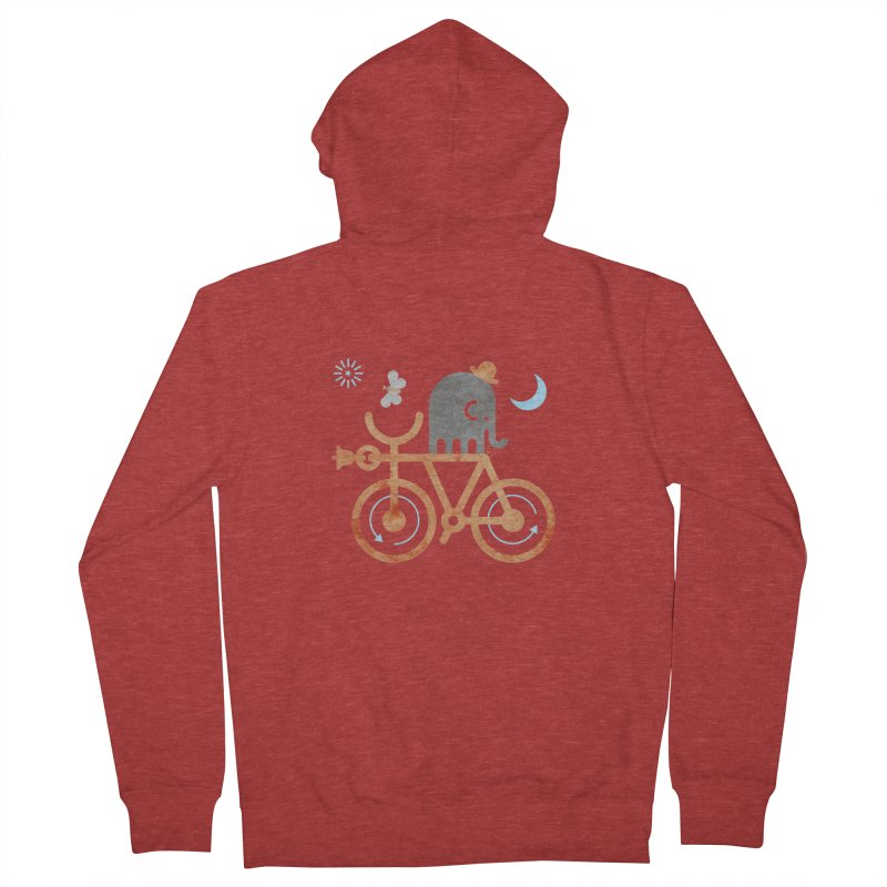 Elephant and Moth Men's Zip-Up Hoody by scottpartridge's Artist Shop