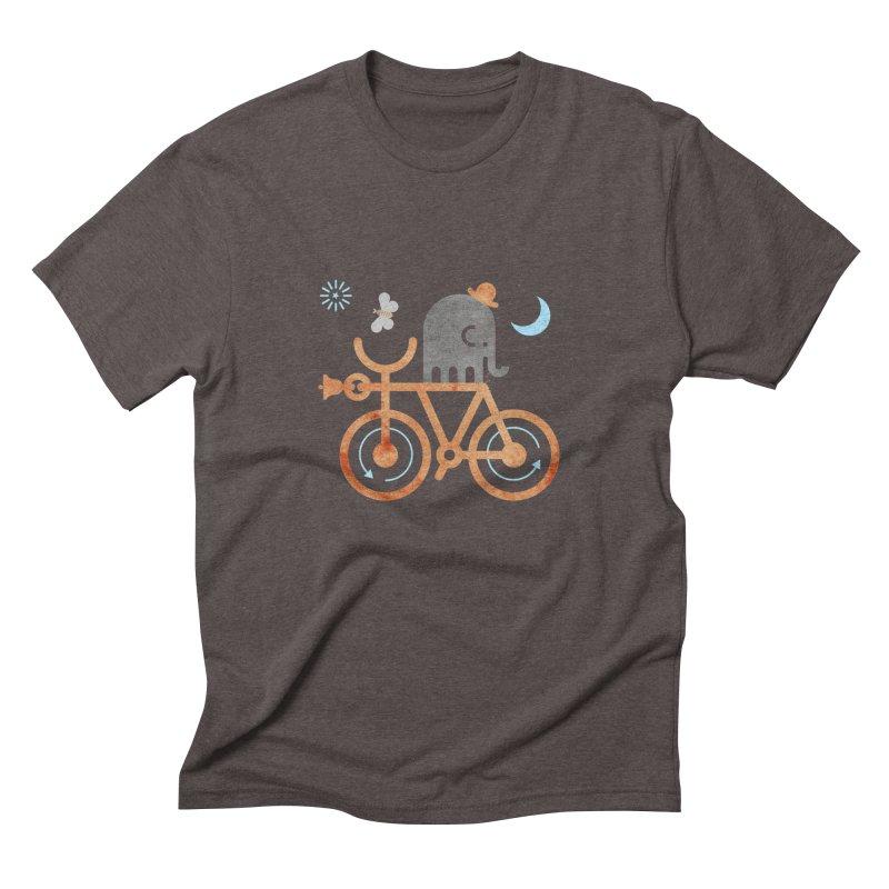 Elephant and Moth Men's Triblend T-Shirt by scottpartridge's Artist Shop