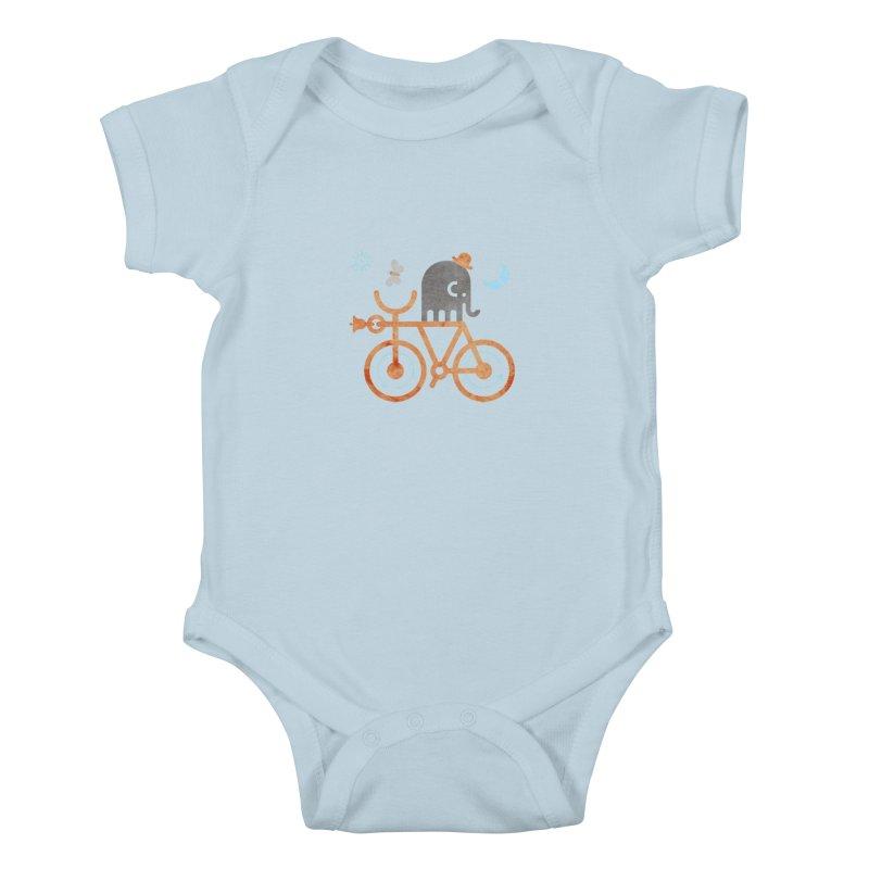 Elephant and Moth Kids Baby Bodysuit by scottpartridge's Artist Shop
