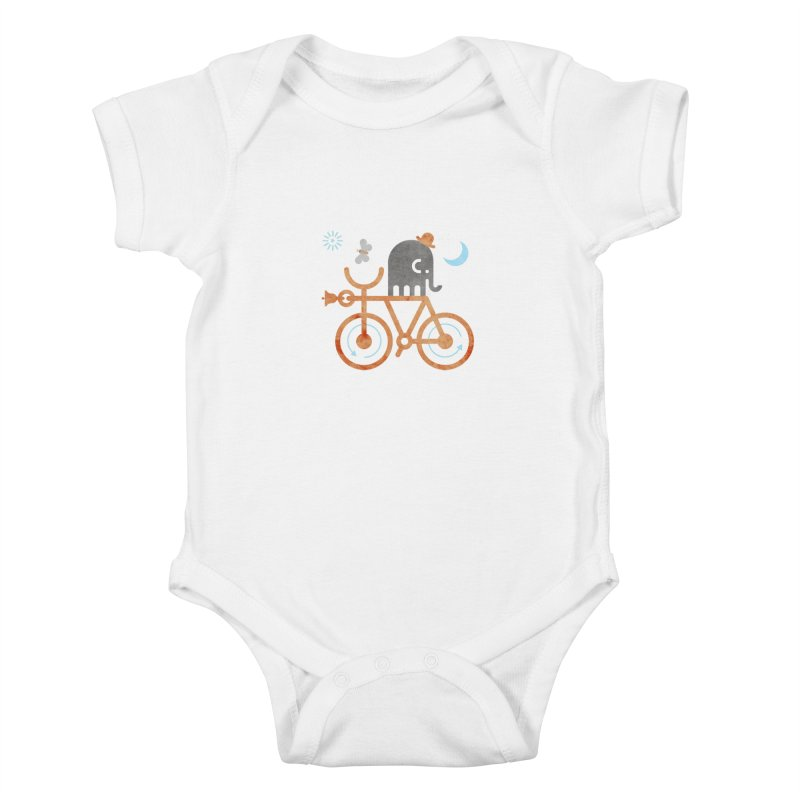 Elephant and Moth Kids Baby Bodysuit by scottpartridge's Artist Shop