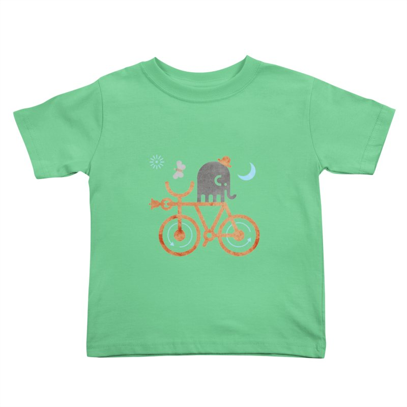 Elephant and Moth Kids Toddler T-Shirt by scottpartridge's Artist Shop