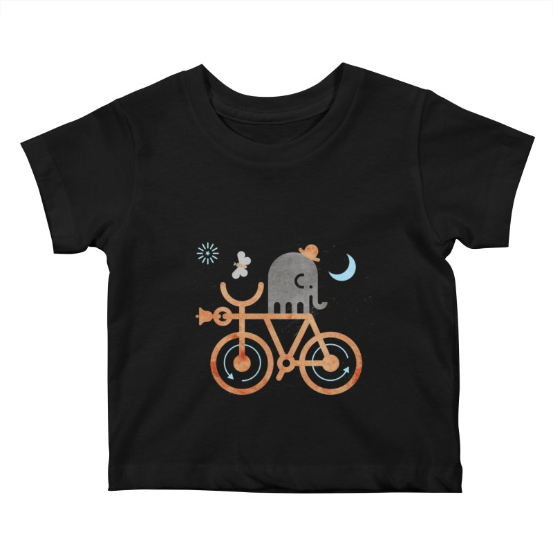 Elephant and Moth Kids Baby T-Shirt by scottpartridge's Artist Shop