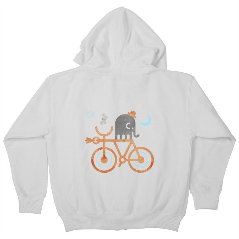 Elephant and Moth Kids Zip-Up Hoody by scottpartridge's Artist Shop