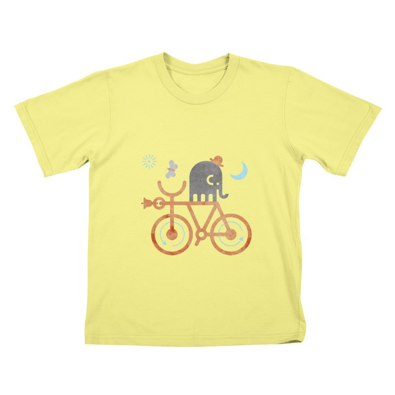 Elephant and Moth Kids T-shirt by scottpartridge's Artist Shop
