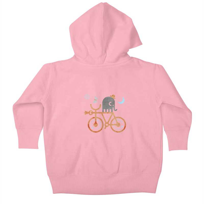 Elephant and Moth Kids Baby Zip-Up Hoody by scottpartridge's Artist Shop