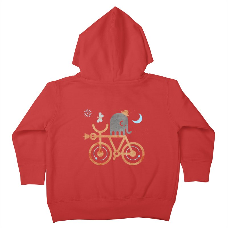 Elephant and Moth Kids Toddler Zip-Up Hoody by scottpartridge's Artist Shop