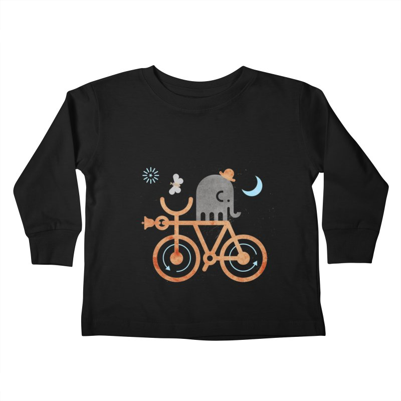 Elephant and Moth Kids Toddler Longsleeve T-Shirt by scottpartridge's Artist Shop