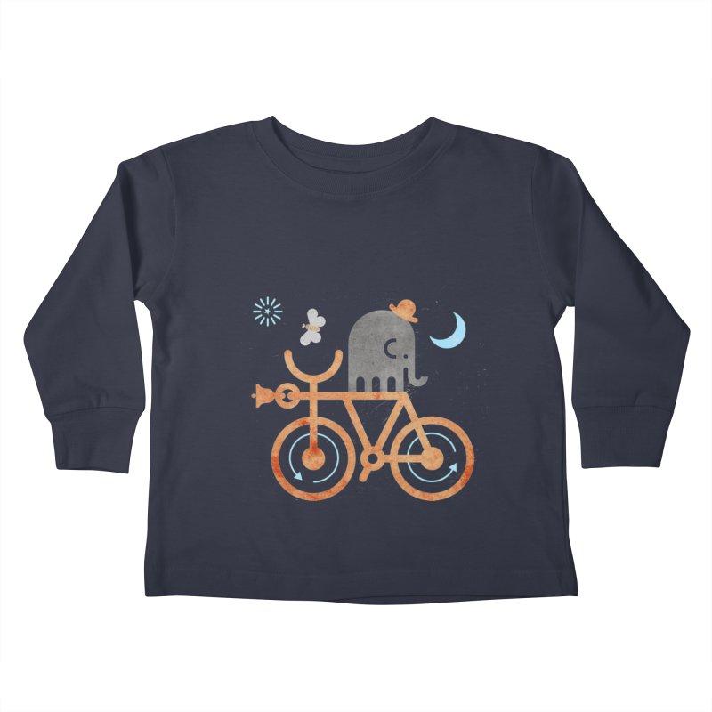 Elephant and Moth Kids Toddler Longsleeve T-Shirt by scottpartridge's Artist Shop
