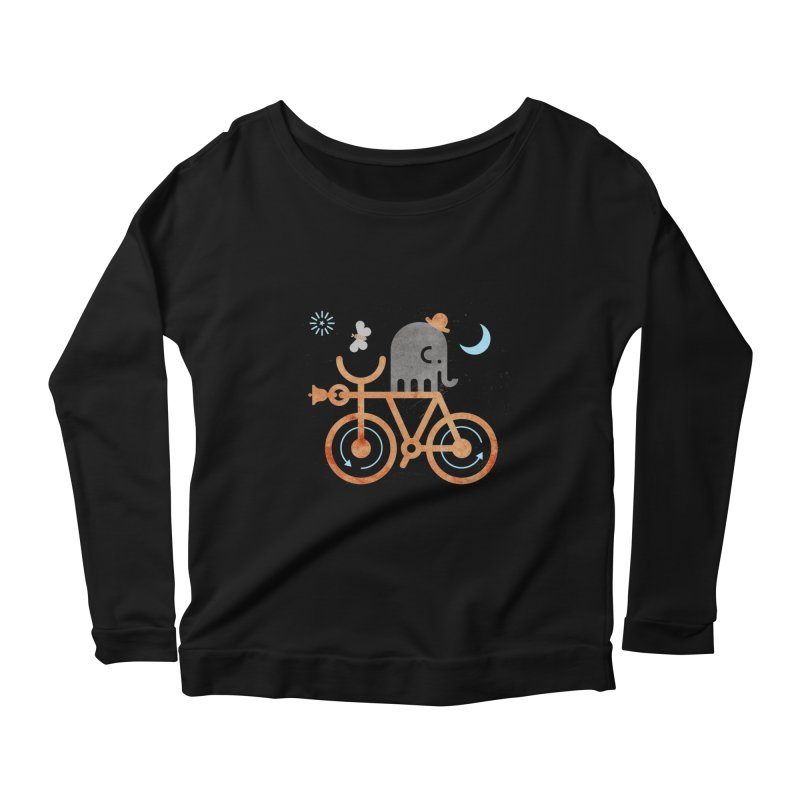 Elephant and Moth Women's Scoop Neck Longsleeve T-Shirt by scottpartridge's Artist Shop
