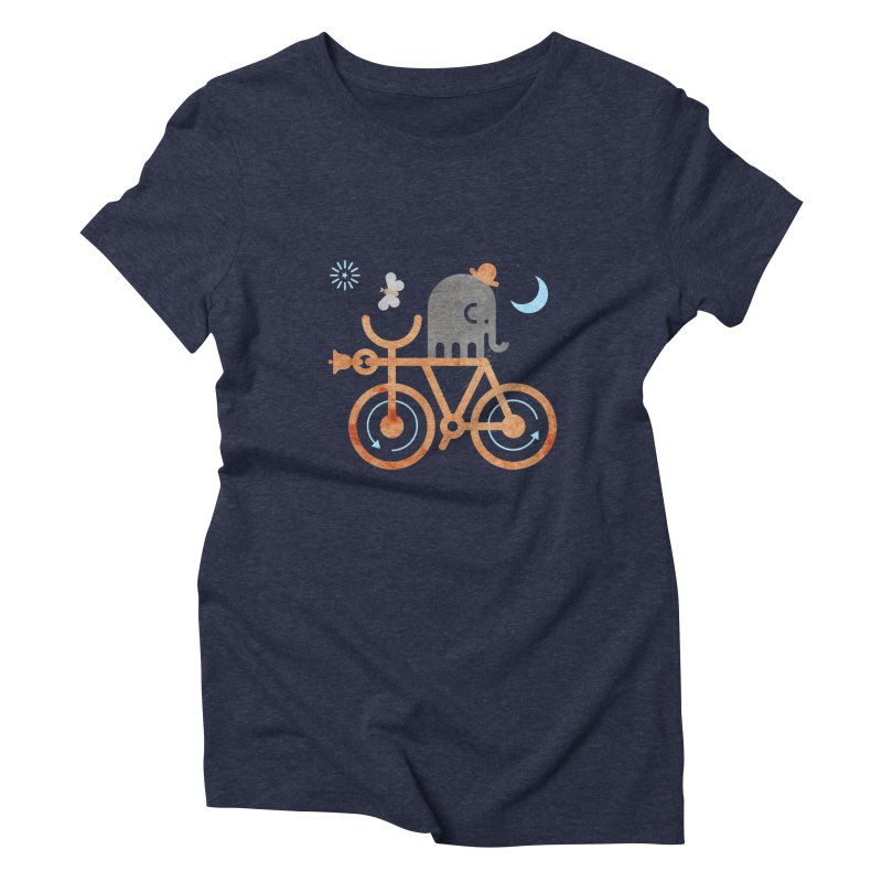 Elephant and Moth Women's Triblend T-shirt by scottpartridge's Artist Shop