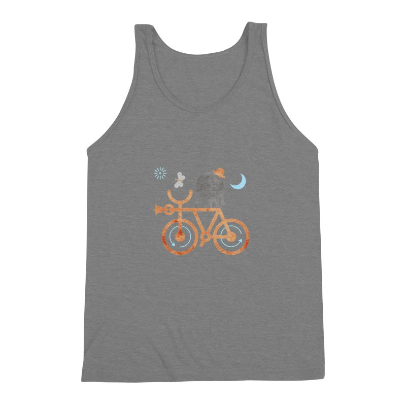 Elephant and Moth Men's Triblend Tank by scottpartridge's Artist Shop