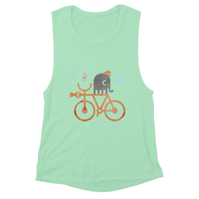 Elephant and Moth Women's Muscle Tank by scottpartridge's Artist Shop