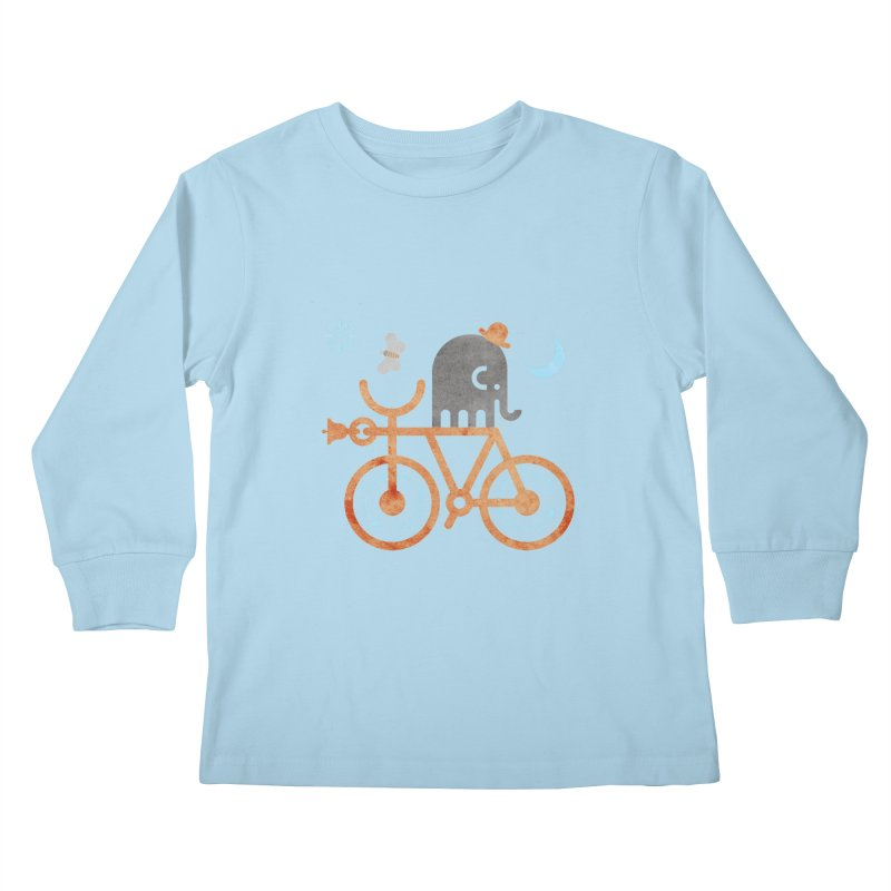 Elephant and Moth Kids Longsleeve T-Shirt by scottpartridge's Artist Shop