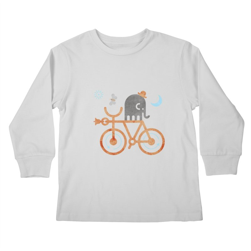 Elephant and Moth Kids Longsleeve T-Shirt by scottpartridge's Artist Shop