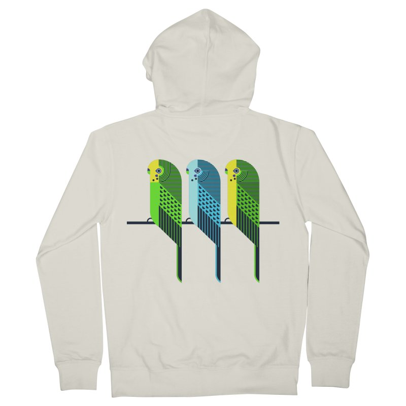 Parakeets Men's French Terry Zip-Up Hoody by scottpartridge's Artist Shop
