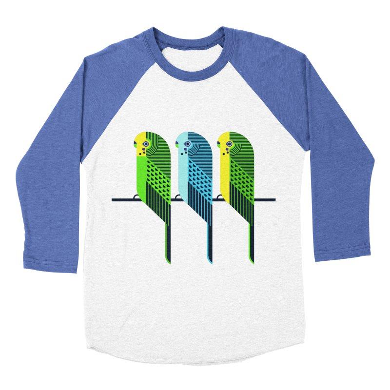 Parakeets Women's Baseball Triblend Longsleeve T-Shirt by scottpartridge's Artist Shop