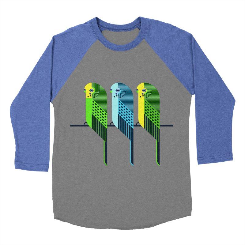 Parakeets Men's Baseball Triblend T-Shirt by scottpartridge's Artist Shop