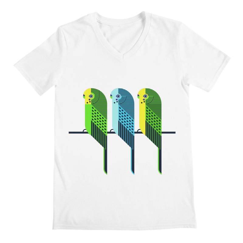 Parakeets Men's V-Neck by scottpartridge's Artist Shop